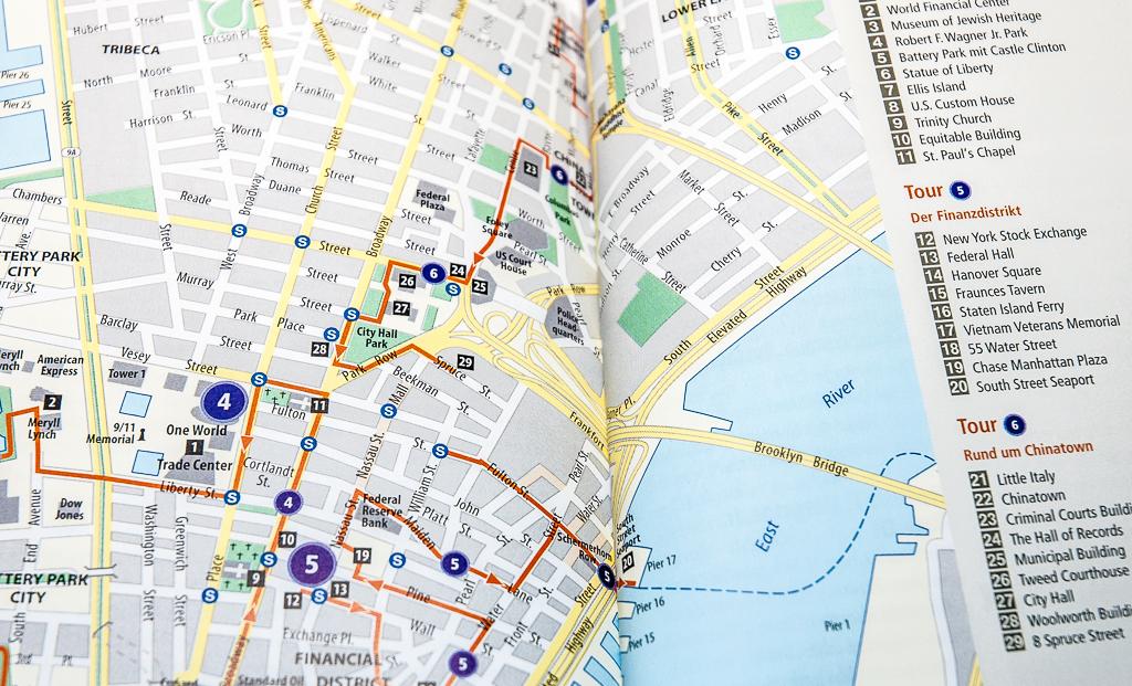 Polyglott on tour New York Reiseführer - www.reise-berichten.de - Karte